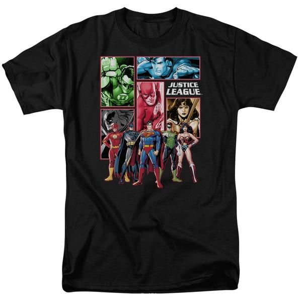 Justice League Panels T-Shirt