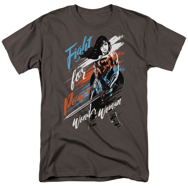 Wonder Woman Movie - Fight For Peace Ringer Shirt