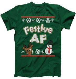 Festive AF Ugly Christmas Sweater T-Shirt