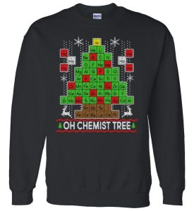 Oh Chemist Tree Ugly Christmas Sweater