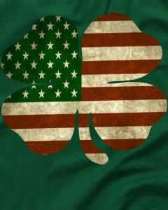 Vintage Clover Irish American Flag T-Shirt