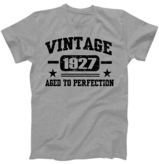 1927 Vintage Aged To Perfection Birthday Gift T-Shirt