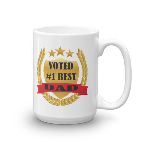voted 1 best dad mug tees me please me