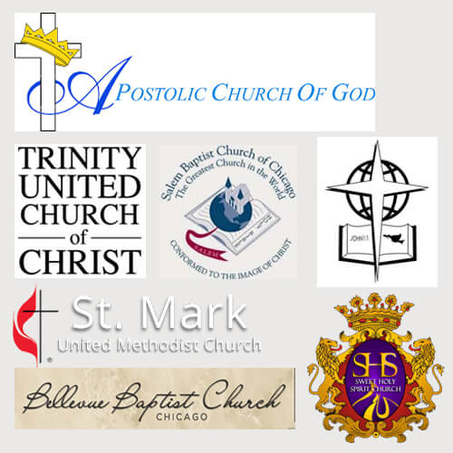 Assorted Chicago and ministries we have worked with.