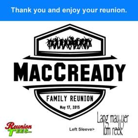 MacCready Family Reunion, (Front & Sleeve)