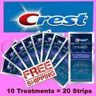 10 TREATMENT 20 STRIPS CREST 3D WHITESTRIPS PROFESSIONAL LEVEL TEETH WHITENING