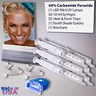 Bright White Smiles Teeth Tooth Whitening Whitener LED UV Light Gel Kit For Home