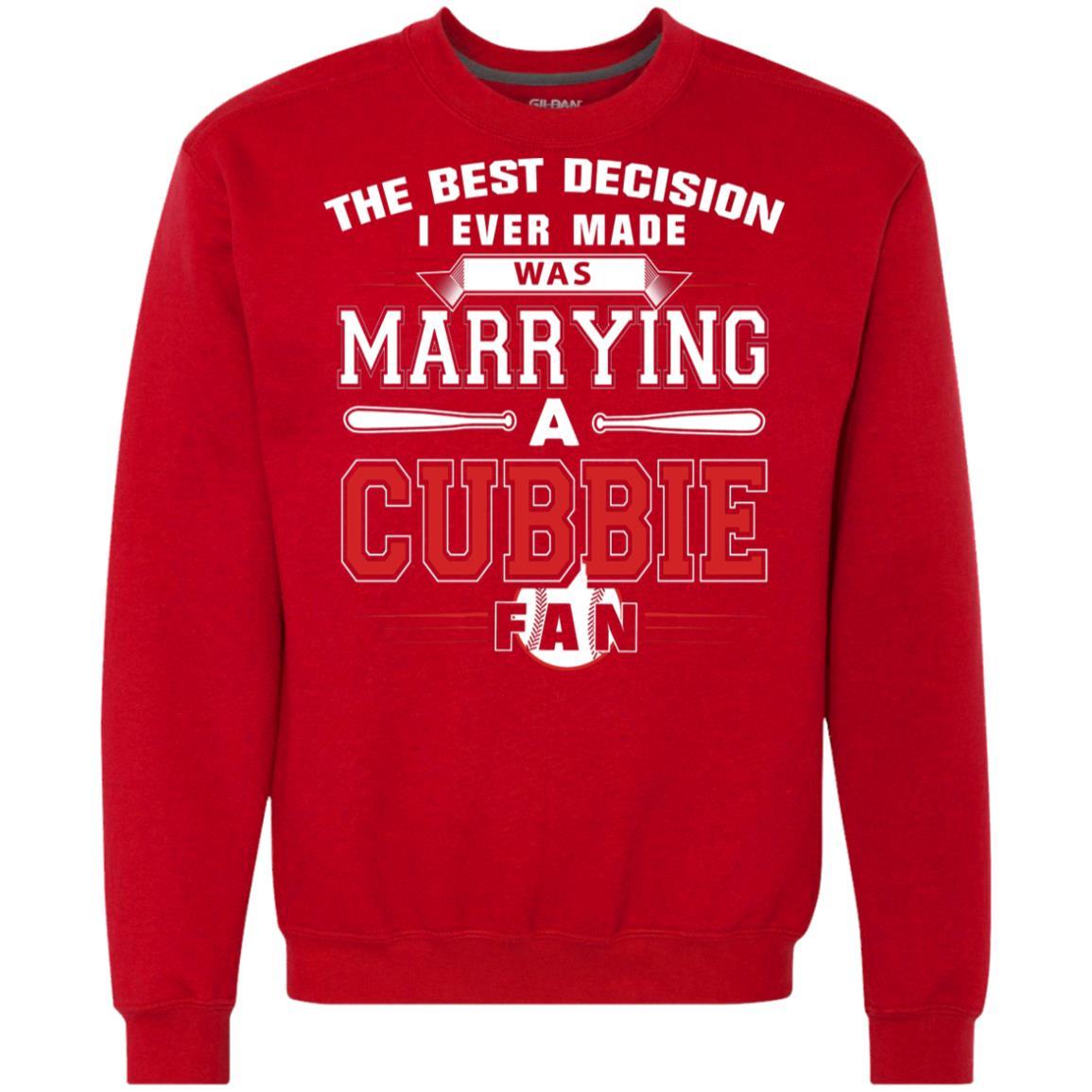 best website df635 e8ad5 Chicago Cubs Marrying A Cubbie Fan Hoodies Sweatshirts