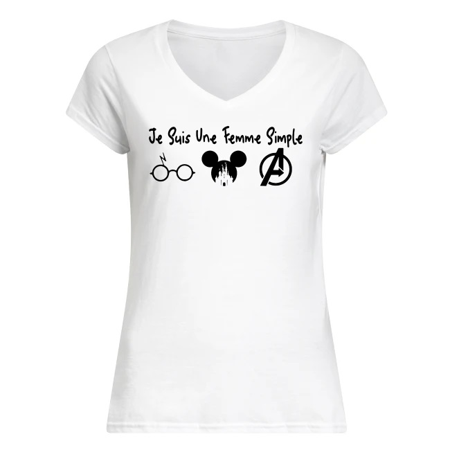 I/'m A Simple Woman Loves Harry Potter Mickey GOT T Shirt White Ladies S-3XL