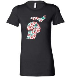 $19.95 - Penis Dog Christmas Funny Lady T-Shirt