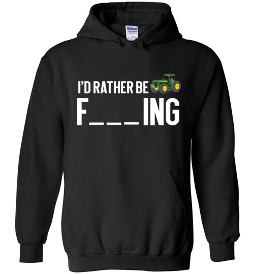 $32.95 – Funny Farmer Gift Shirts I'd Rather Be Farming Hoodie