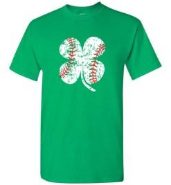 $18.95 – Baseball Shamrock T-Shirts Gift for St Patricks Day T-Shirt