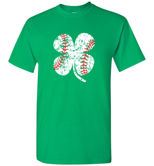 Baseball Shamrock T-Shirts Gift for St Patricks Day