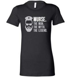 $19.95 – Mens Funny Murse T-Shirt Male Nurse Shirt RN LPN CNA Lady T-Shirt