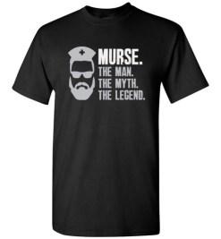 $18.95 – Mens Funny Murse T-Shirt Male Nurse Shirt RN LPN CNA T-Shirt