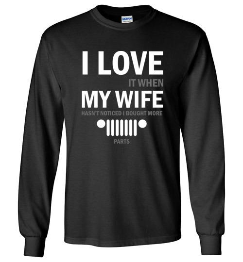 23.95$ - I love My Wife Funny Jeep lovers Long Sleeve