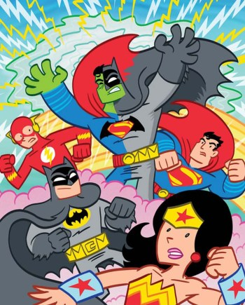 Cartoon Superheros Poster