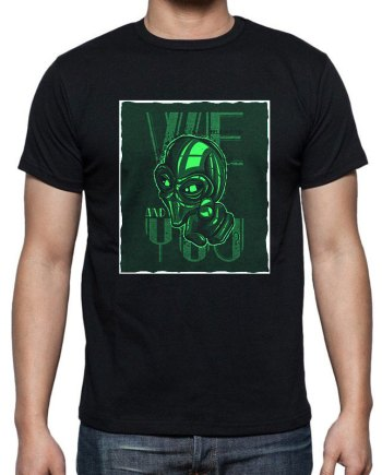 we believe in you Alien tshirt