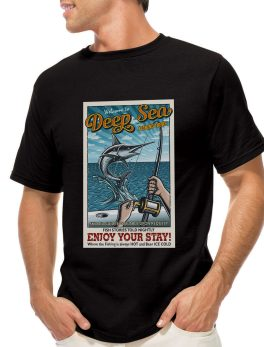 Deep sea fishing tshirt