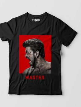 Thalapathy Vijay Diehard Fans Master Movie Tshirt Black