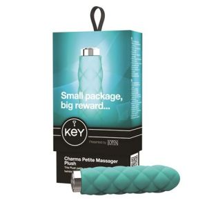 Key by Jopen Charms Petite Massager - Plush Robin Egg Blue