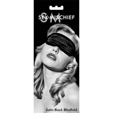 S&M Satin Blindfold - Black