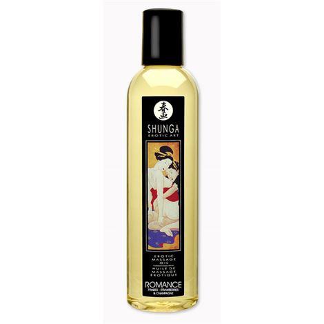 Shunga Massage Oil Romance (Strawberry Wine)