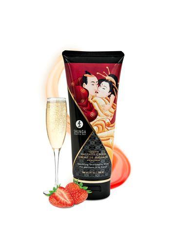 Shunga Kissable Massage Creams 200ml/7fl.oz - Sparkling Strawberry Wine