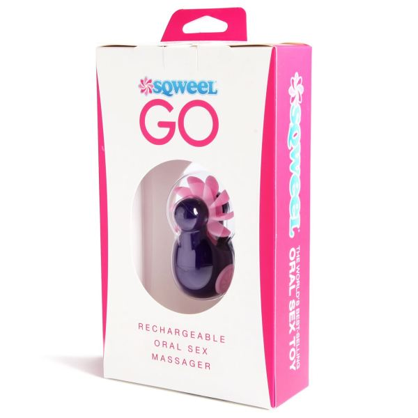 Sqweel Go USB Rechargeable Oral Sex Massager Purple