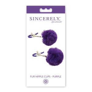 Sincerely Fur Nipple Clips - Purple