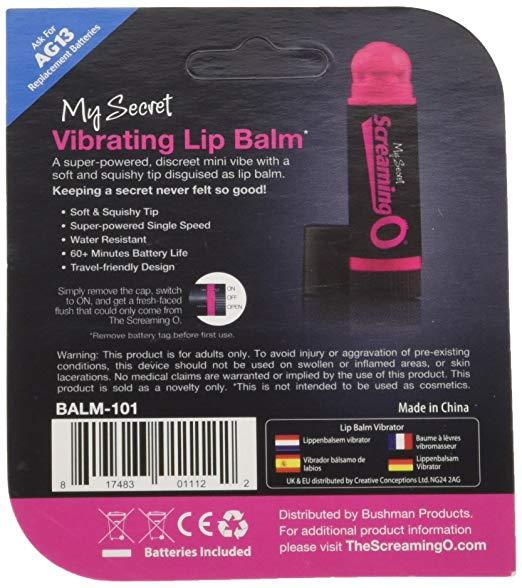 My Secret Screaming O - Vibrating Lip Balm