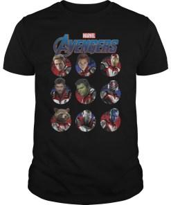 Marvel Avengers Endgame Main Cast Circles Graphic T-Shirt