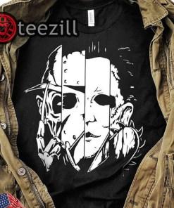 Halloween horror movie characters mashup shirt