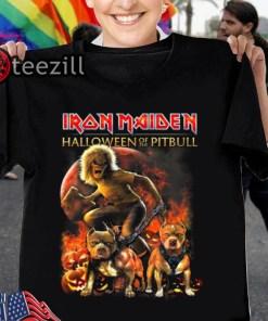 Iron maiden halloween of the pitbull calssic shirts