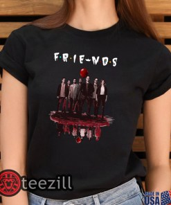Halloween Friends tv show IT chapter two characters friends reflection shirt