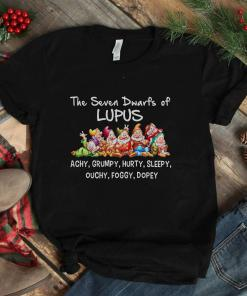 Cartoon the seven dwarfs of lupus achy grumpy hurty sleepy ouchy foggy dopey disney shirt
