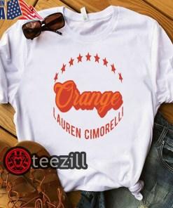 Lauren Cimorelli Orange Shirt