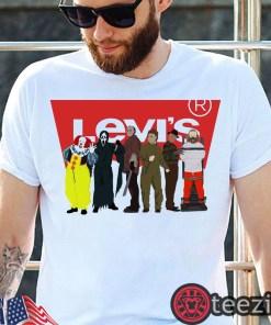 Levi's Horror Characters Halloween Shirt