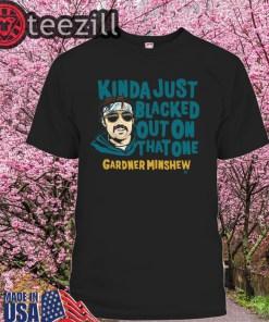 Gardner Minshew Shirt - Blacked Out Officially Tee