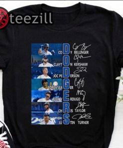 Los Angeles Dodgers Signatures Baseballs MLB Shirt
