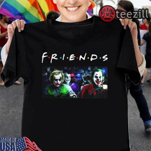 Men's Joker Team driving car Friends TV Show TShirt