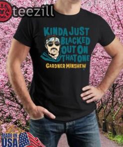 Officially Tee Gardner Minshew Blacked Out Shirt