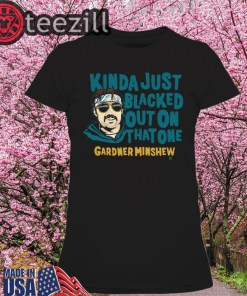 Officially Tee Gardner Minshew Blacked Out TShirt