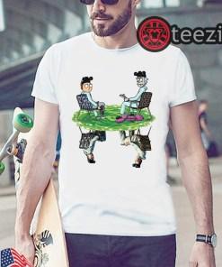 White Rick & Morty Water Mirror Reflection Breaking Bad Tshirt Unisex Shirt