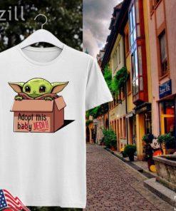 Baby Yoda Mandalorian Adopt This Baby Jedi Shirt