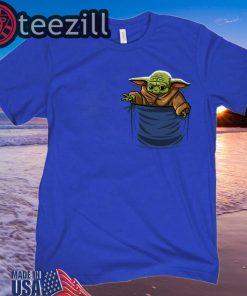 Baby Yoda shirt The Mandalorian Blue Shirt