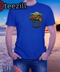 Baby Yoda shirt The Mandalorian Blue TShirt