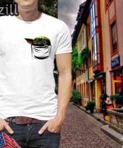 Baby Yoda shirt The Mandalorian Shirt Pocket T-shirt