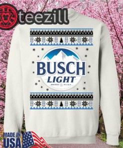 Busch Light Beer Christmas Ugly Hoodies, Sweatshirt