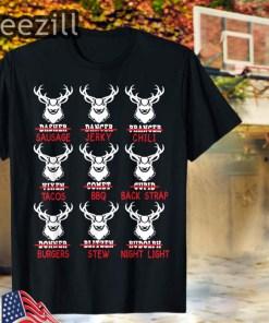 Christmas Deer Bow Hunting Santa Hunter T-Shirt
